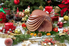 Christmas Glazed Ham Stock Image