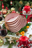 Christmas Glazed Ham Royalty Free Stock Photo