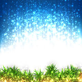 Christmas glitter abstract background. Glitter winter abstract background. Bright christmas illustration with snowflakes and sparkles. Vector Stock Images