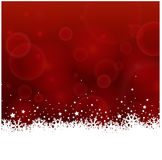 Red Christmas background with ice flowers Royalty Free Stock Photography
