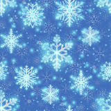 Christmas glitter background with snowflakes Stock Photography