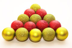 Christmas glitter balls Royalty Free Stock Images