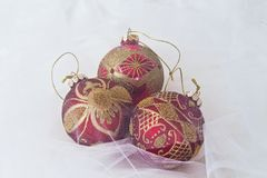 Christmas glitter balls Royalty Free Stock Photography