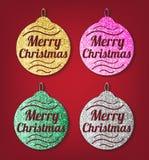 Christmas glitter balls Royalty Free Stock Image