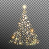 Christmas glitter bokeh lights. EPS 10 vector. Christmas glitter bokeh lights and sparkles like Tree on transparent background. And also includes EPS 10 vector Royalty Free Stock Photo