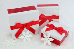 Christmas Glitter Gift Boxes Stock Photography