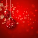 Christmas glittery baubles background Royalty Free Stock Photos