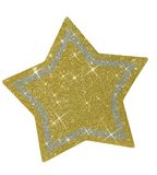 Christmas glittery star - isolated Royalty Free Stock Photo