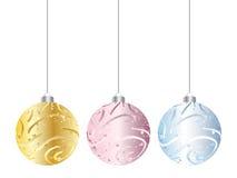 Christmas globe. Shiny christmas globe isolated on white background Royalty Free Stock Photos