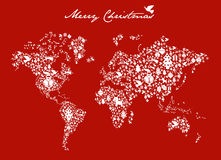 Christmas globe map concept Stock Photo