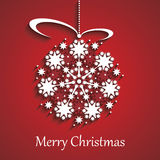Christmas globe. Snowflake design vector illustration Vector Illustration