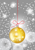 Christmas globe in sparkling snow Royalty Free Stock Image