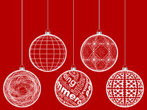 Christmas globes. Abstract christmas globe vector illustration Royalty Free Stock Image
