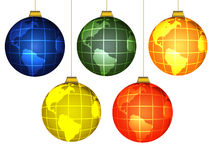 Christmas globes Stock Photos