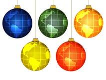 Christmas globes. On white backdround Stock Photos