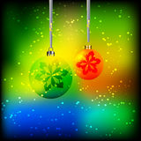 Christmas Globes royalty free illustration