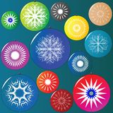Christmas globes collection Royalty Free Stock Photography