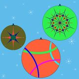 Christmas globes collection 3 Royalty Free Stock Photography