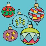 Christmas globes. Fully editable vector illustration with christmas globes Royalty Free Stock Images