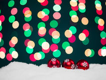Christmas globes greeting card Stock Images