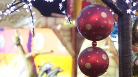 Christmas globes stock video footage