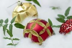 Free Christmas Globes Set For Holiday Greetings Stock Photo - 63620260