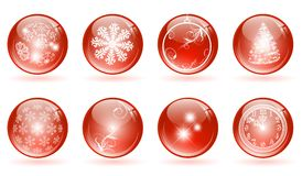 Christmas glossy balls Royalty Free Stock Image