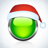 Christmas glossy button. Stock Image