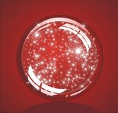 Christmas Glossy snow globe Stock Photo