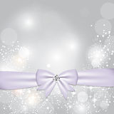 Christmas Glossy Star Background with Ribbon Stock Photos