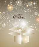 Christmas Glossy Star Background Vector Stock Image