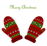 Christmas gloves Royalty Free Stock Images