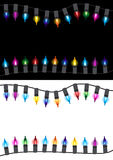 Christmas glow light border Stock Images