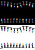 Christmas glow light border Stock Images