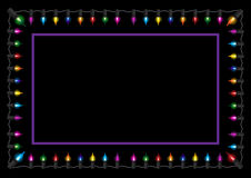 Christmas glow light border Royalty Free Stock Photos