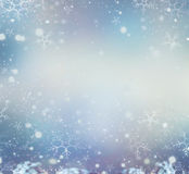 Christmas glow winter background. Defocused snow background Stock Photography