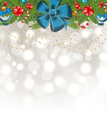 Christmas glowing background with decoration Royalty Free Stock Photo