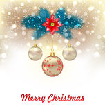 Christmas Glowing Background Stock Images