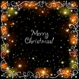 Christmas glowing background Royalty Free Stock Images
