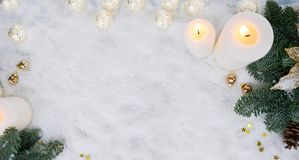 Christmas scene with snow Stock Photography