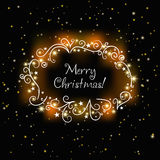 Christmas glowing card Royalty Free Stock Photography