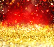 Christmas glowing gold and red background. Christmas gold and red background with glowing effect royalty free illustration