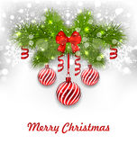 Christmas Glowing Greeting Background Stock Image