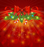 Christmas glowing packing Stock Photo