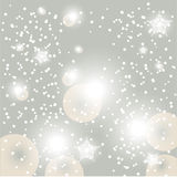 Christmas glowing snow background Royalty Free Stock Photography