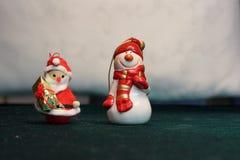Christmas gnome and christmas snowman Stock Image
