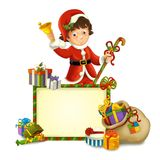 The christmas gnome - drawrf - illustration for the children Royalty Free Stock Photography