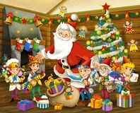 The christmas gnome - drawrf - illustration for the children Royalty Free Stock Images
