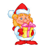 Christmas gnome gift Royalty Free Stock Images