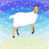 Christmas goat background. Graphic illustration design Royalty Free Stock Image
